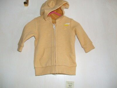 Baby yellow jacket brand new with tag 0-3mths car moto
