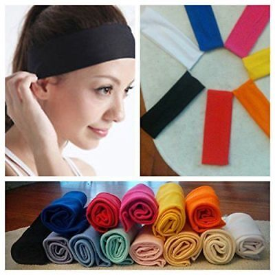 Women Men Sport Sweat Sweatband Headband Yoga Gym Stretch Head Band Hair AU