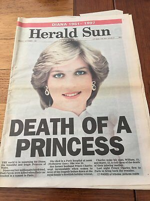 Princes Diana Memorabilia Newspapers - Various Front Page News and other Pages