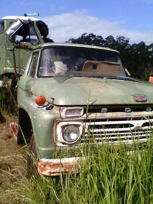 1974 F truck cab chazis with 9 inch diff  green truck is a 1960 model F