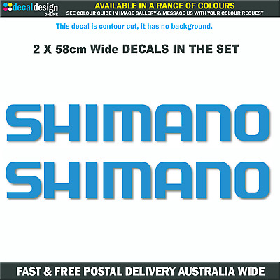 SHIMANO Decals x2 HUGE 58cm stickers for boat fishing tacklebox fridge