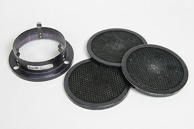 Dynalite 7in Grid Adapter And 3 Grids Very Good Condition.