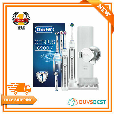 Oral-B Genius Electric Toothbrush Rechargeable 2Handle Pack PRO8900 Braun Series