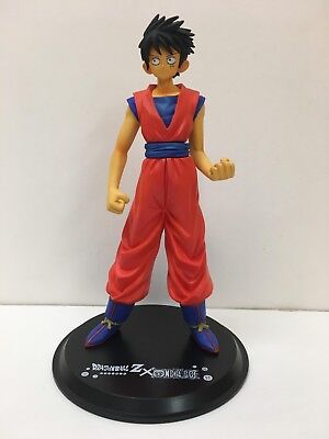 Dragon Ball Z X One Piece Monkey D Luffy Figure Goku Costume