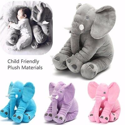 Baby Child Gift Long Nose Elephant Doll Soft Plush Toys Lumbar Pillow Cushion