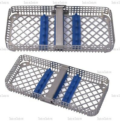 Round Bottom Strip Locking Sterilization Cassette Rack Tray 5 Dental Instruments