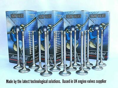 Set of 16 valves: 8 inlet & 8 exhaust FIT TO Mazda CX-7 2.3 16V T DIS L3K9-1211