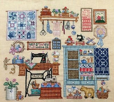 Sewing Room - Cross Stitch Chart - Free Post