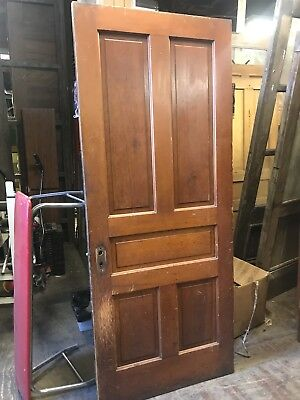 "Antique 5 Panel Pine Door 34"" X 83""x 1 3/8"" Old Door 4 Available Farm House Door"