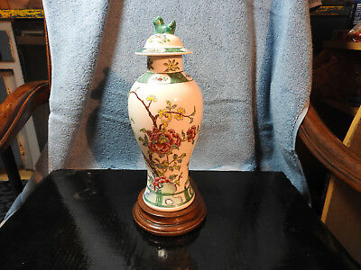 Mid century famille rose meiping form chinese vase hand painted overglaze enamel