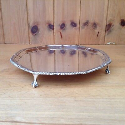 Solid Sterling Silver Sheffield 1921 Salver/Tray