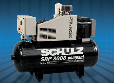 Schulz Rotary Screw Srp-3008 Compact - 7.5Hp - 60 Gal / Single Or Three Phase