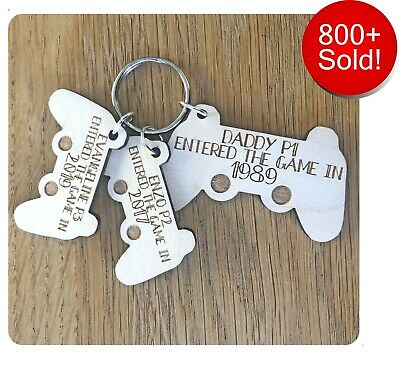 Personalised Fathers Day Gifts For Him Daddy Dad Grandad Controller Keyring Gift