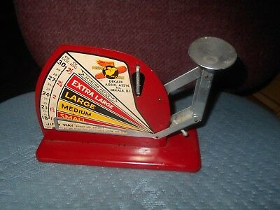 """""""jiffey Way"""" Tin Poultry Scale Dekalb, Ill. Excellent Condition"""