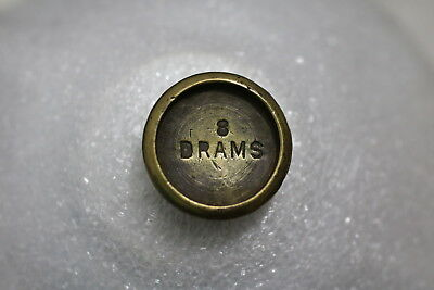 Uk Gb Coin Weight 8 Drams A72 #k6391