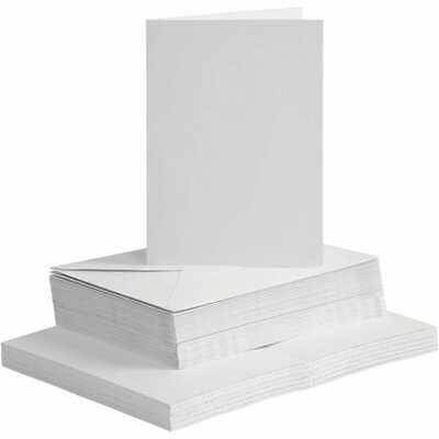 A6 Cards and Envelopes Blanks White Cards for Card Making 240gsm
