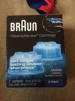 Braun CCR2 Clean and Renew System Cartridges Refills Series 3 5 7 Shaver, 2 Pack