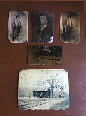 Billy the Kid Lot of 5 historical museum quality reproduction tintypes 2017