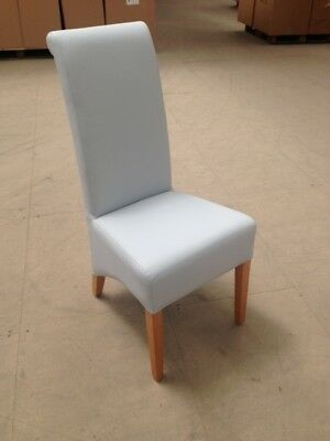 NEW High back dining chair faux leather restaurant club pub
