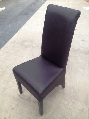 NEW High back dining chair real leather restaurant club pub