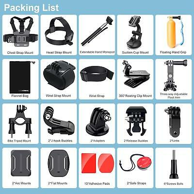 Gopro Hero 5 4 3Hero Session Action Camera Case Other Essential Accessories Kits