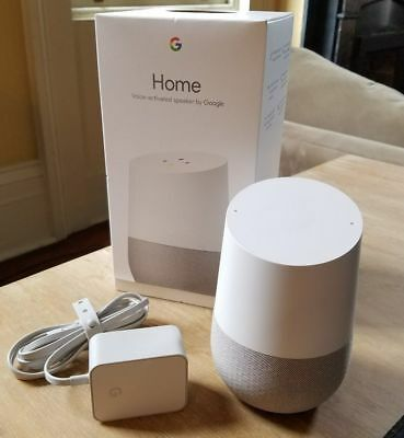 Google Home - White Slate Personal Assistant - New & Sealed   Works Worldwide