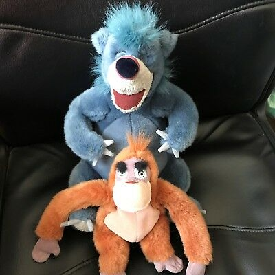 Jungle Book Baloo And King Louie Soft Toys X 2
