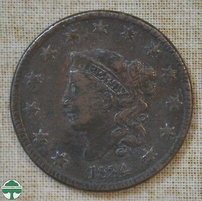 1834 Coronet Head Large Cent - Very Good Details