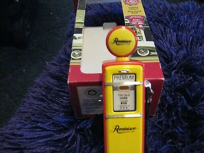 Crown Premiums Collectibles Reminisce Lighted Gas Pump Bank-Limited Edition-NIB