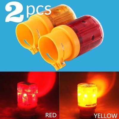 Solar Powered Energy Warning Light LED Safety Signal Beacon Alarm Lamp Solar Tra