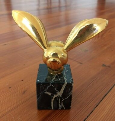 ALVA Museum Replica Gaston/G. Lachaise Brass/Marble Base French Bee Sculpture