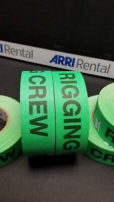 """Rigging Crew Gaff Tape Florescent Green  2"""" x 55 Yards By Pro"""