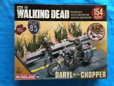 The Walking Dead Daryl Dixon with Chopper 154Teile McFarlane Toys Building Sets