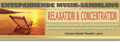 RELAXATION & CONCENTRATION Hörbuch ENTSPANNUNG PUR Musik ERHOLUNG MASTER R. MRR