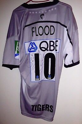 Toby FLOOD Signed & Matchworn Leicester Rugby Union Shirt England International
