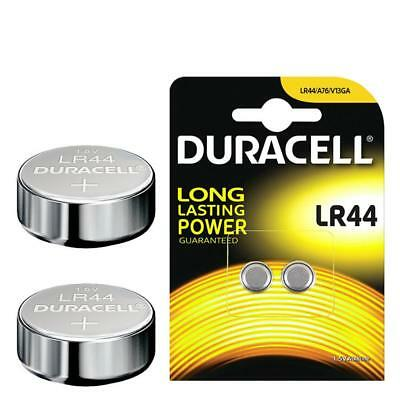 UK POST 2 x Duracell LR44 1.5V Alkaline Button Cell Batteries LR 44 A76 AG13 357