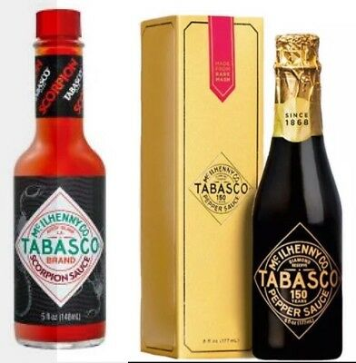 Tabasco 150th Year Reserve Sauce and Scorpion Sauce  Sold Out LIMITED EDITIONS!