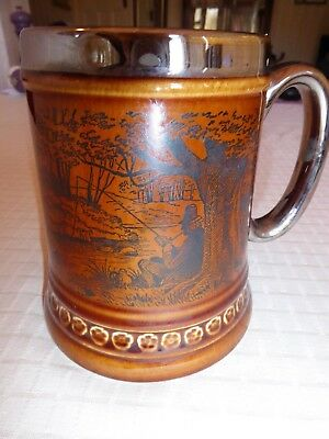 Lord Nelson pottery tankard depicting fisherman
