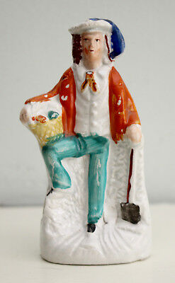 A Charming c19th Antique Victorian Staffordshire Figure, the Gardener