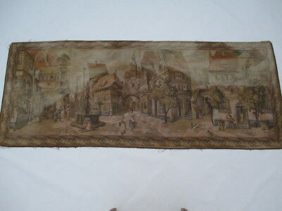 Old French / Belgium Tapestry Wall Hanging - 177 x 70 cm ( 4428 )