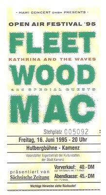 Fleetwood Mac   In Concert 1995   Ticket / Konzertkarte / Eintrittskarte