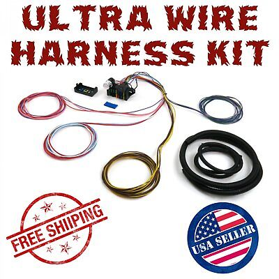 1960 - 1965 ford falcon ultra pro wire harness system 12 fuse w/panel tech