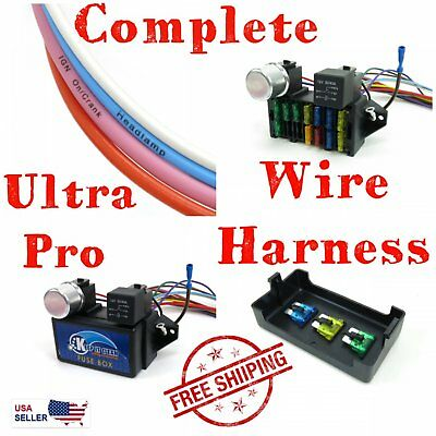 chevrolet s10 ultra pro wire harness system 12 fuse retro fit long w/panel  coded