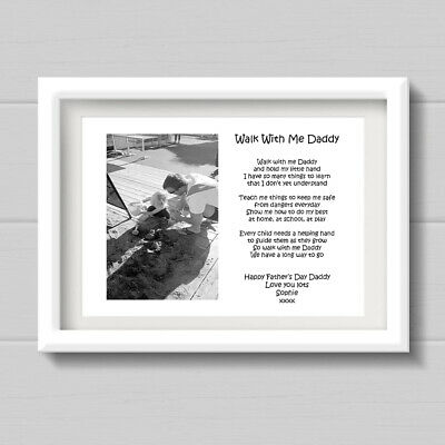 A4 PERSONALISED DADDY, Dad Verse / Poem, Fathers day