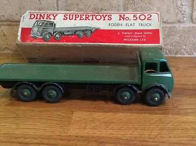 A vintage Dinky Supertoys No 502 Foden Truck In Original Box - Rare