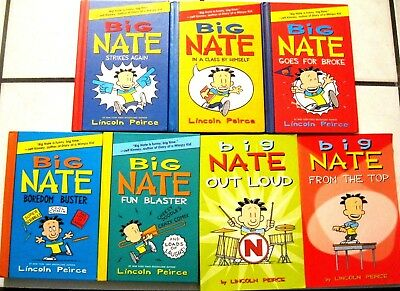 Big Lot 7 Big Nate Series Children's Chapter Books By Lincoln Peirce 5Hc/2/pb