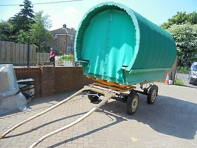 Gypsy Wagon Barrel Top In Good Condition Has New Roof No Reserve
