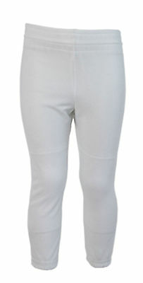Power Bolt Baseball Pants Trousers (White) - Youth XS (5-6 Years)