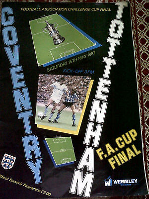 1987 F.A. Cup Final Coventry v Tottenham Programme