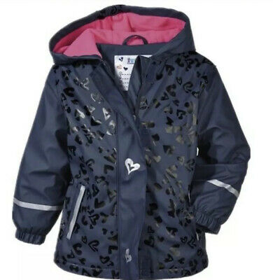 Lupilu Girls Blue Waterproof Rain Jacket Age 12-24 Months Fleece Lined. Bnwt
